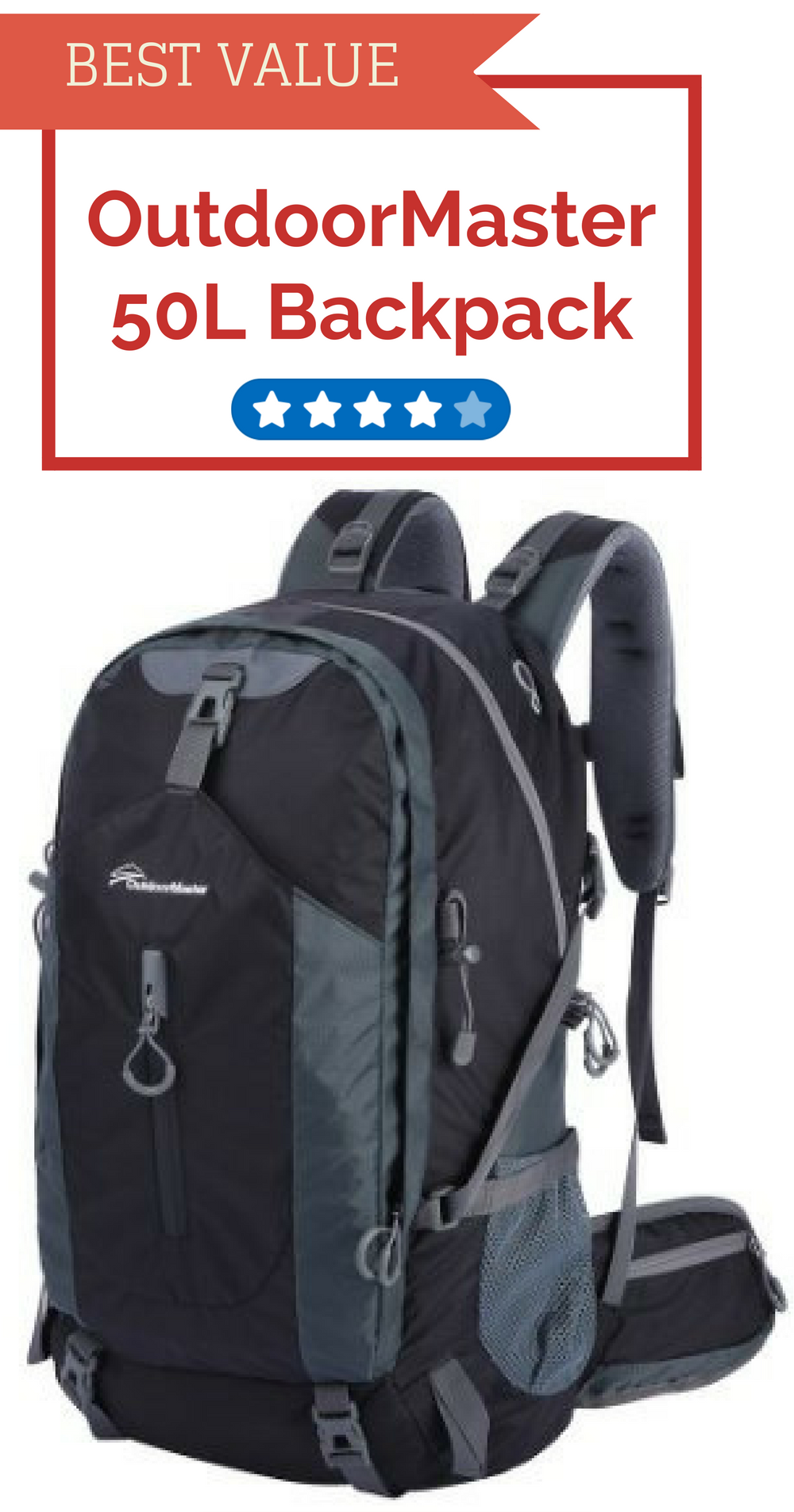 OutdoorMaster 50L Backpack